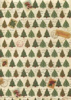 Sapins et timbres de Noël (70x100)