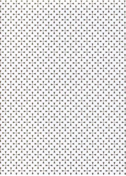 Croisillons bleu marine fond écru (70x100)