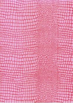 """Papier imitation Croco """"parme et fushia"""" (70x100)"""