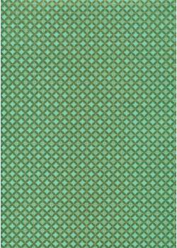 Perceval 2 tons vert réhaussé or (50x70)