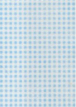 Voile intissé vichy bleu (70x100)