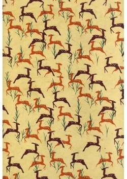 Lokta africa antilope fond beige (50x75)