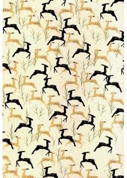 Lokta africa antilope fond écru (50x75)
