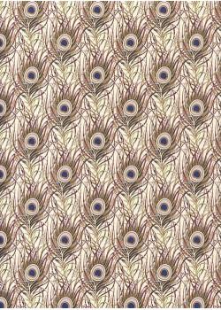 Venise plumes de paon - tendance violine réhaussées or (70x100)