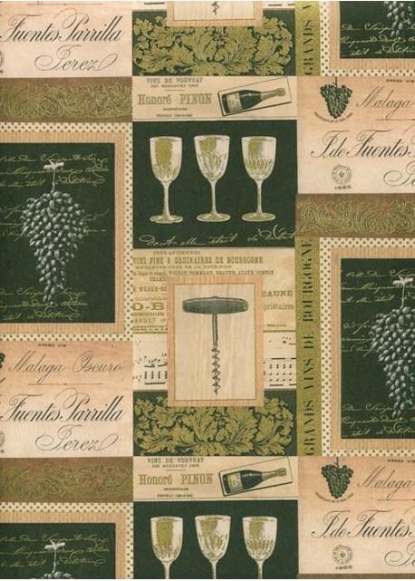 """""""Tosca"""" Le vin réhaussé or (70x100)"""