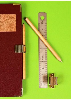 Clic porte-crayon laiton (vendu sans crayon)
