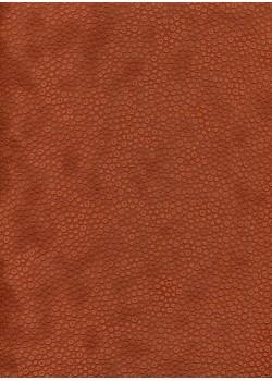 Simili cuir velours Galet paprika (70x100)