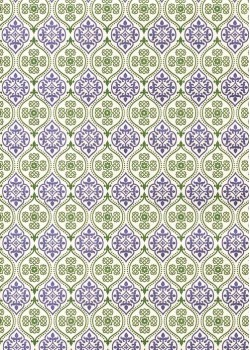 """Florence"" Tiepolo vert et bleu (50x70)"