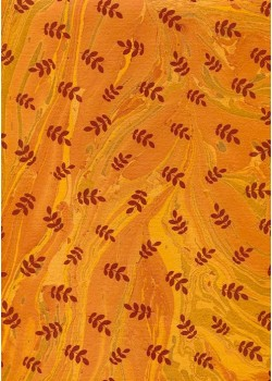 Acacia bordeaux fond marbré ambre (50x70)