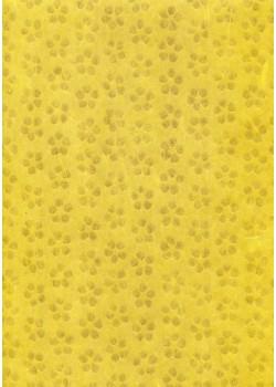 Voile intissé patte de chat jaune (70x100)