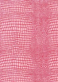 "Papier imitation Croco ""rose et fushia"" (70x100)"