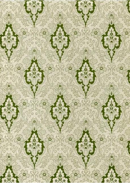 Tapisserie motif baroque vert 70x100 la th i re de bois - Motif tapisserie ...