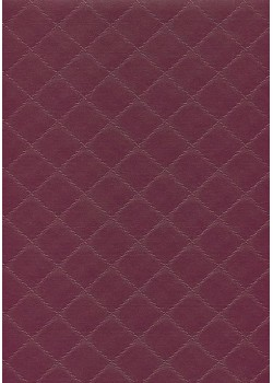 "Simili cuir ""Diamond"" aubergine"