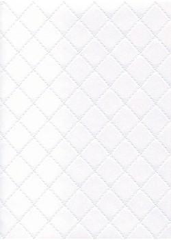 """Simili cuir """"Diamond"""" blanc neige"""
