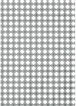 Faience noire et blanche (50x70)