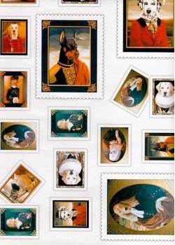 """Les timbres """"portraits de chiens"""" (34x48)"""