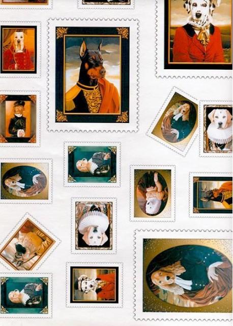 """Les timbres """"portraits de chiens"""" (34x48)*"""