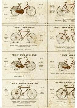 """Les bicyclettes anciennes """"REXOR"""" (70x100)"""