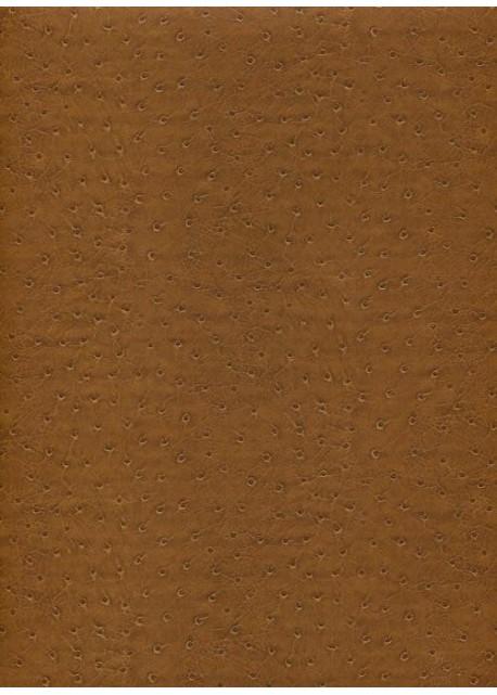 "Simili cuir ""Pécari "" brun noisette"