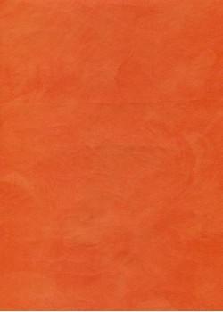 """Simili cuir """"Chagrin"""" mandarine (69x100)"""