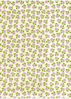 Semis de petites roses mauves (70x100)