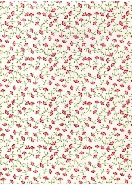 Semis de petites fleurs rouges (70x100)