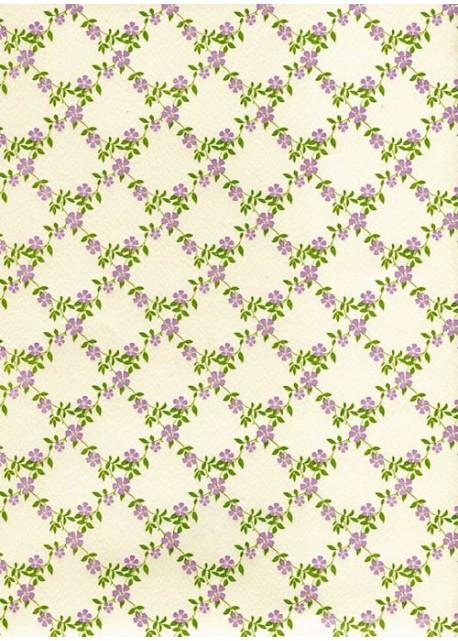 Guirlande de fleurs violettes (70x100)