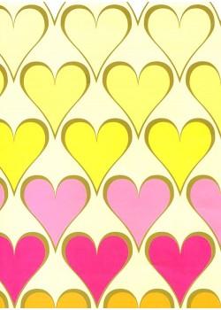 Les coeurs multicolores (50x70)