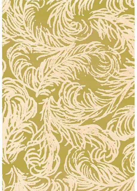 Plumage beige rosé fond doré vif (65X100)*