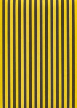 """Recto verso """"Bayadère jaune et noir / idem"""" (50x65)"""