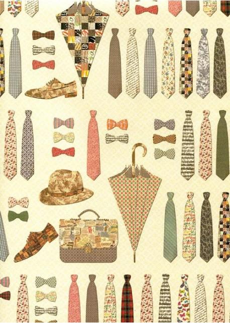 Les accessoires masculins en patchwork (70x100)