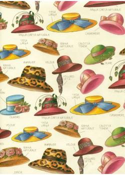 Les chapeaux réhaussés or (70x100)
