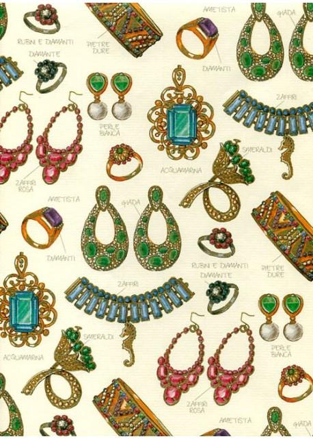 Les bijoux de pierres précieuses réhaussés or (70x100)