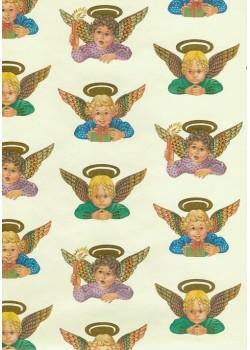 Les anges réhaussé or (70x100)