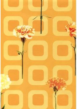 Les oeillets sur fond rétro (68x97)