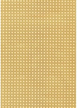 Cannage or clinquant et beige rosé (70x100)