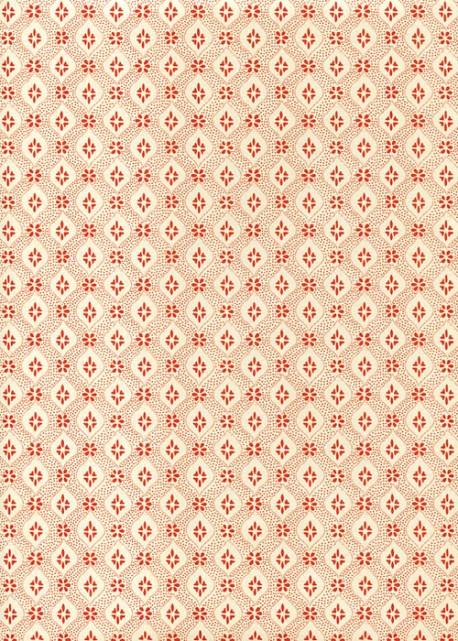 Damier rouge fond ivoire (70x100)