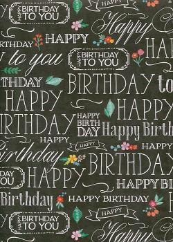 Happy birthday fond noir (68x98)