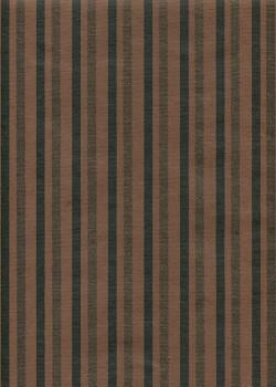 Rayures noires et cuivre fond chocolat (50x70)