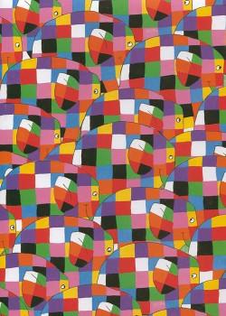 Elmer l'éléphant (50x70)
