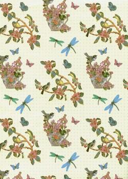 Porcelaine aux oiseaux et libellules