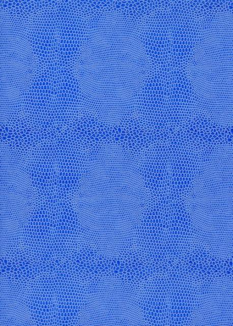Papier imitation Lézard 2 tons bleu (70x100)