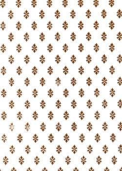 Fleuron caramel fond blanc (56x76)