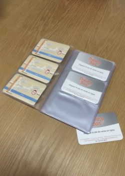 Credit card 10.5x18.2cm (18x3 pochettes)