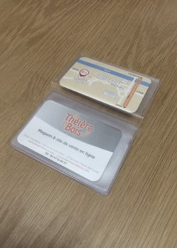 Credit card 7x9.7cm (10 pochettes)