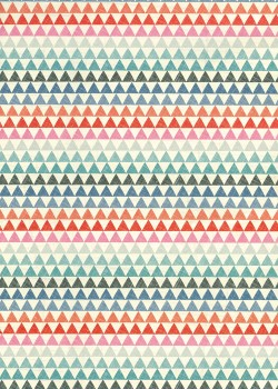 Triangles multicolores en ligne (68x98)