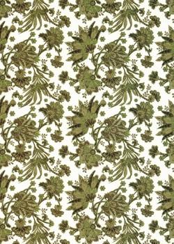 Feuillage vert réhaussé or (50x70)