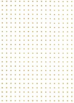 Mini étoiles or sur fond blanc toilé (50x70)