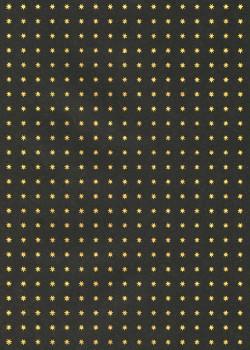 Mini étoiles or sur fond noir (50x70)