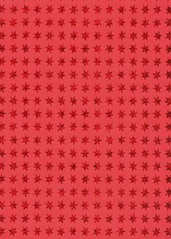 Etoiles métallisé rouge fond rouge (50x70)